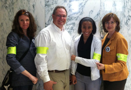 New York IPL folks sporting their armbands at Earth Day Lobby Day